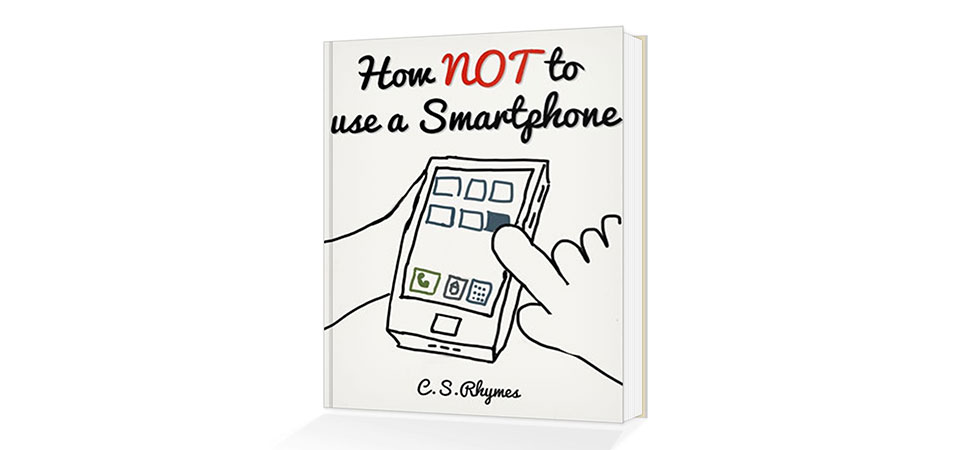 How NOT to use a smartphone book cover