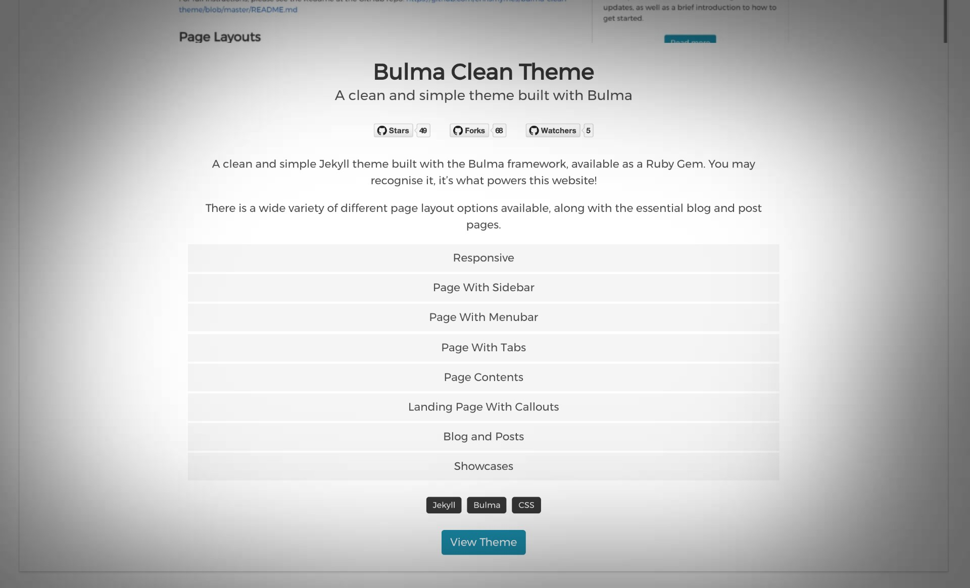 Lessons learned designing the Showcase layout for Bulma Clean Theme
